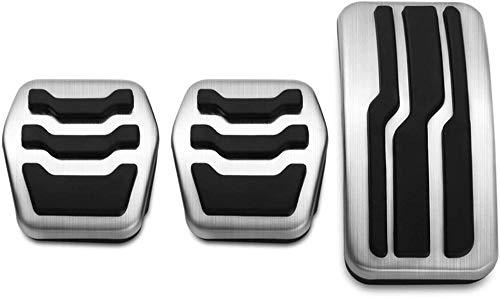 CHENQAZ Fahrzeuginnenausstattung Edelstahl Auto Pedalabdeckungen Pedale Set, Für, Ford Focus 2 3 4 MK2 MK3 MK4 Kuga Escape RS ST 2005-2017 Zubehör Kupplungsbremse Fußpedal (Farbe: 3PCS MT) -4PCS_MT