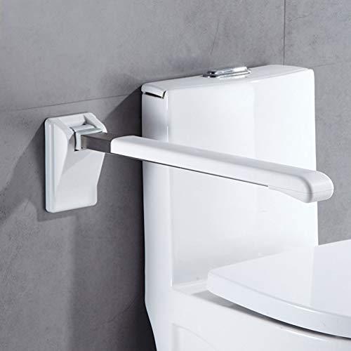 JMUNG Toiletten Stütz-Haltegriff hochklappbar robust & solide verarbeitet Toiletten Stütz-Haltegriff Klappgriff Sicherheit rutschfest Wandmontage,Weiß