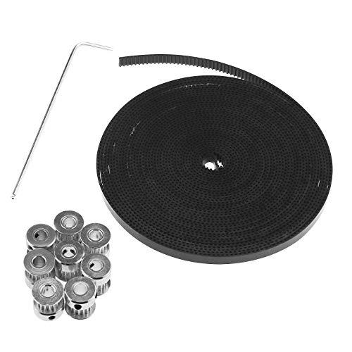 8×GT2 16T Bohrungs Timing Pulley + 5mm/5m Zahnriemen Für 3D RepRap Prusa Mendel