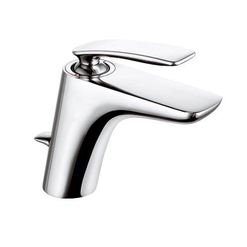 Kludi Waschtisch-Einhebelmischer Balance mit Ablaufgarnitur, Waschbecken Armatur mit Brauseumstellung, verchromt, 520230575