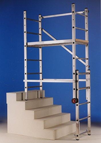 SVELT Trabattello Multiposizione In Alluminio Trasformabile In Scala A Cavalletto Per Uso Professionale Leggero