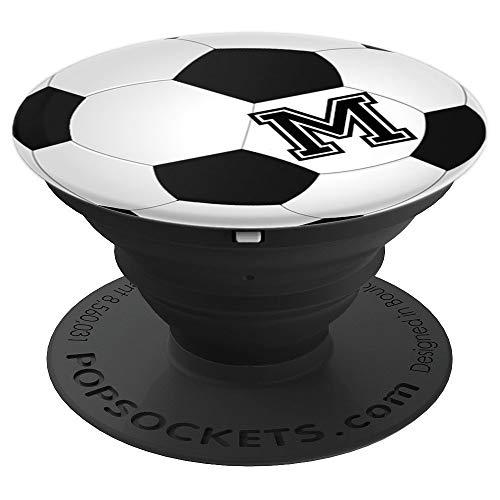 Fußball Spieler Monogramm M Initialien Buchstabe Name Fan - PopSockets Ausziehbarer Sockel und Griff für Smartphones und Tablets
