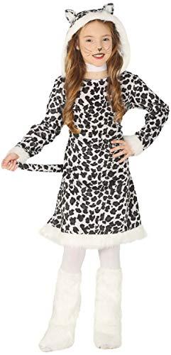 Mädchen Schneeleopard Tier Big Cat Dschungel Winter Weihnachten Weihnachten Karneval Fasching Kostüm Outfit