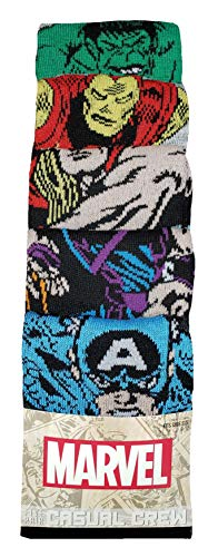 Bioworld Marvel Comics The Avengers 5 Pair Casual Crew Socks, 43689
