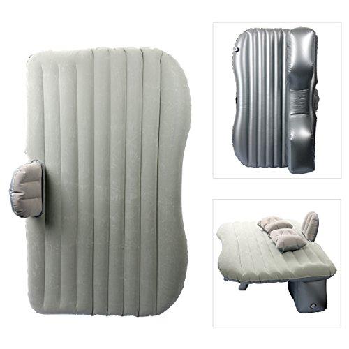 YaeTact, materassino gonfiabile da viaggio per auto, letto gonfiabile per campeggio, universale con due cuscini ad aria