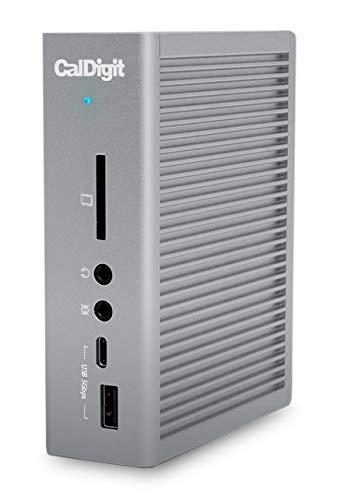 CalDigit TS3 Plus - Thunderbolt Station 3 (0.7M) Kabel - 85 W Aufladen, 7 x USB 3.1 Anschlüsse, USB-C Gen 2, DisplayPort, UHS-II SD-Kartensteckplatz, LAN (Space Grey)