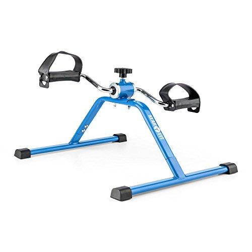 Klarfit Continus Mini Cyclette Compatta Minibike per Braccia e Gambe (40 x 35 x 50 cm, Resistenza Regolabile, Piedini di Gomma Antiscivolo) Nero