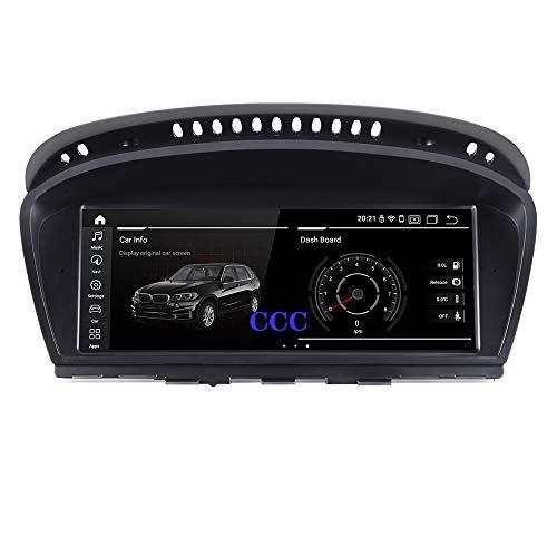 XISEDO 8.8 Pulgadas Android 10.0 RAM 4G ROM 64G Autoradio Radio de Coche Car Radio Estéreo Navegación de Automóvil para BMW Serie 3 E90 (2005-2008) / BMW Serie 5 E60 (2005-2008) Sistema CCC Original