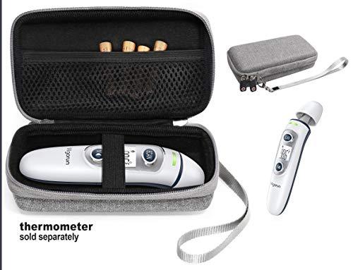 getgear case for Thermometer: Wyltec, Skyaudio, ANKOVO, Caroune, Simplife, Braun BFH-125, Mosen, Vigorun, GoodBaby, Braun Thermoscan 7, CHOOSEEN, Vigorun, Mobi Dualscan, Tweed Gray (CASE ONLY)