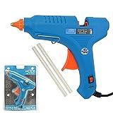 Pistola per colla a caldo incollatrice per bricolage, fai-da-te per incollaggio 230V-60W 200°C con 2 pezzi di stick di colla inclusi - echoENG - UM 90 PC06