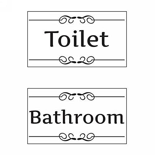 styleinside Bad WC Toilette Türaufkleber Wandtattoo Wandsticker Wandaufkleber Aufkleber Schwarz