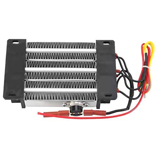 Calefacción termostática PTC, 600 W 220 V, elemento calefactor de cerámica PTC aislado, elemento calefactor, disipador térmico pasivo, calefacción PTC ondulada
