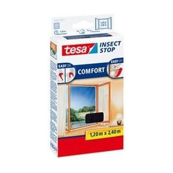 , 1,3m:1,5m tesa/® Insect Stop Standard Fliegengitter f/ür Fenster 2er Pack - Anthrazit Durchsichtig Insektenschutz zuschneidbar