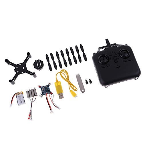 non-brand Kit RC Montaje DIY Juguetes Mini Racing Drone sin Cabeza Moda 2.4 GHz LED