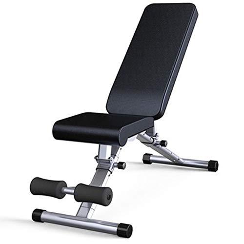 FAEIO Haushalt Mini Sit Up Bank, schnell faltbar, aus hochwertigem Edelstahl Klappbare Hantelbank, Geeignet für Fitness zu Hause oder im Büro, kann 100 kg, 1290 × 460 × 1170 mm tragen