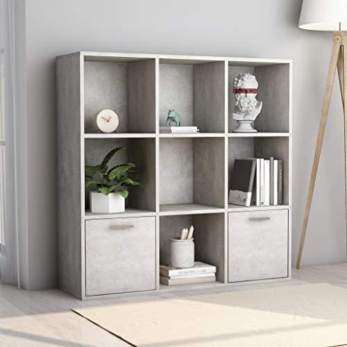 SKM Libreria Grigio Cemento 98x30x98 cm in Truciolato A