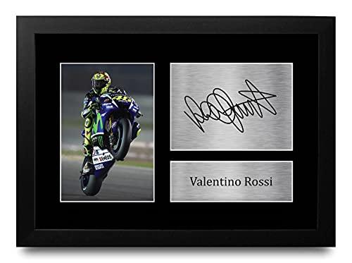 HWC Trading FR Valentino Rossi Handtekeningen Printed Gift Ontworpen A4 Superbike Motogp Cadeaus Druk Open Beeld