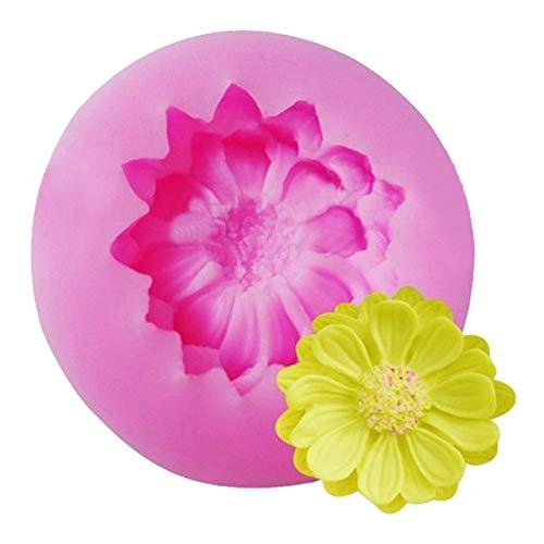 3D-Kuchenform aus Silikon mit Blütenmotiv, für Kuchen, Gelee, Süßigkeiten, Schokolade, Dekoration, Backen, Bastelzubehör