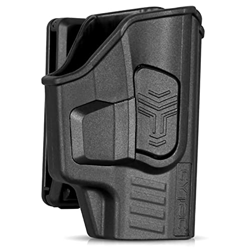 Sig P365 Holsters, OWB Holster for Sig Sauer P365 Micro-Compact 9mm / P365 XL / P365 SAS - Index Finger Released | Adjustable Cant | Autolock | Outside Waistband Belt Clip | Matte Finish -Right Handed