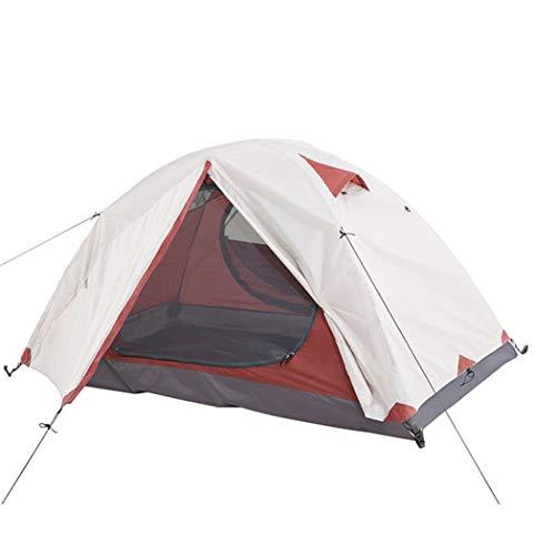 2 Personen Rucksack Zelt Outdoor Camping 4 Saison Zelt Mit Schneerock Doppelschicht Wasserdichtes Wander Trekking Zelt 215 * 130 * 100cm Grau 3 Jahreszeiten
