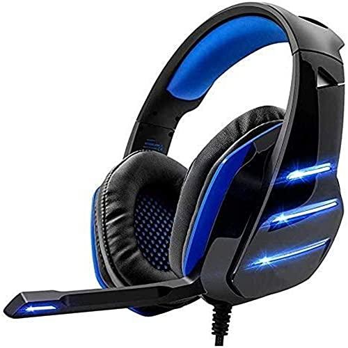 Auriculares, para Xbox One, PS4, PC, controlador de volumen, cancelación de ruido sobre el oído, micrófono, reducción de ruido estéreo 3,5 mm auriculares profesionales para juegos