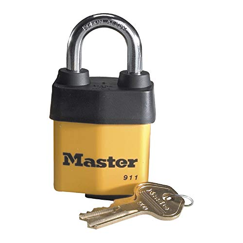Master Lock 911DPF Heavy Duty Outdoor Padlock with Key, 1 Pack