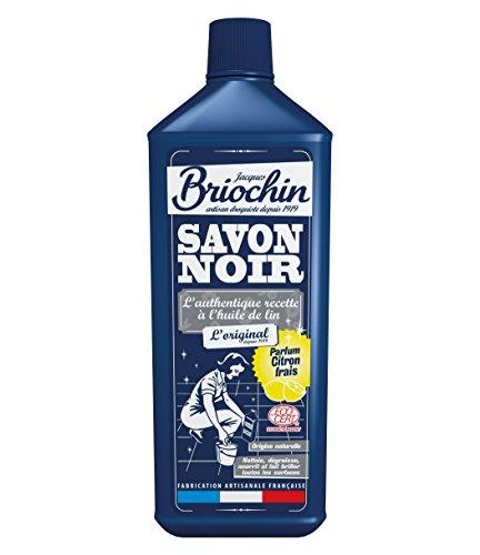 Jacques Briochin Savon Noir Parfum Citron Frais Ecocert 1 L - Lot de 4