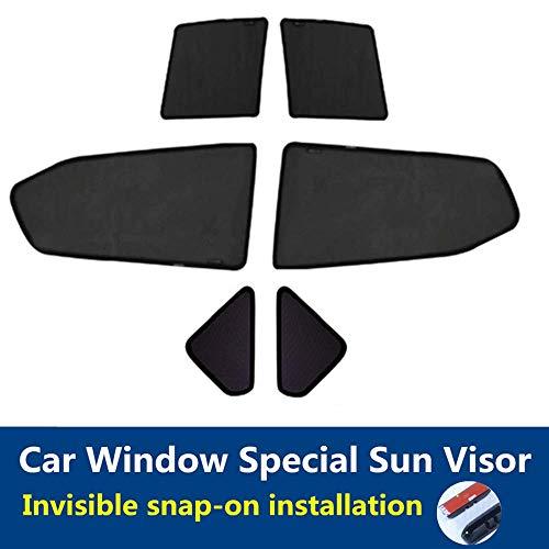 TUTU-C 6 Stück Auto Fenster Abdeckung Sonnenschutz Vorhang UV Schutz Shield Sonnenschutz Fenster Schutz Auto Sonnenschutz für Audi Q5 2010–2017