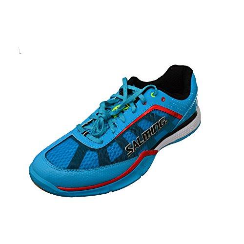 Salming Viper Indoor Handballschuh Hallenschuh blau/rot/schwarz/weiß/neon, Farbe:blau, Schuhgröße:EUR 49