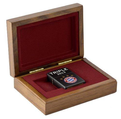 Zippo FC Bayer Triple Luxus Geschenkset / Holzbox