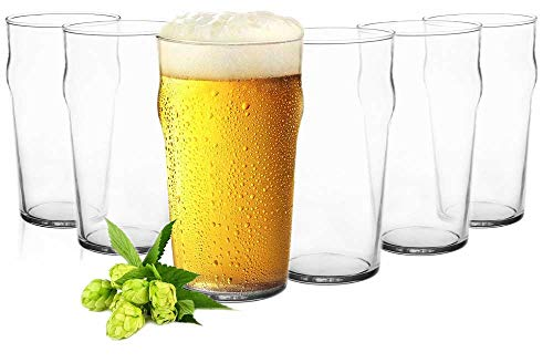 Sendez 6 Pint Gläser 0,5L Biergläser Bierglas Pilsgläser Pint Glas Trinkgläser Saftgläser