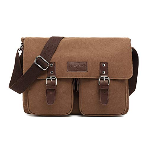 FANDARE Vintage schoudertas zeildoek schoudertas uitbreidbare crossbody tas heren dames reizen business messenger bag…