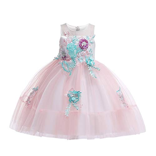 LuckyGirls Princess Dress Little Girl Elegant Birthday Dresses Dance Little Girls Girls Formal Dresses Casual Party Sleeveless Dress