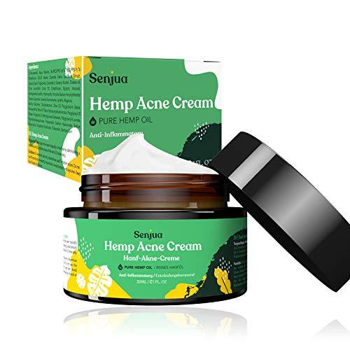 Hanf Akne Creme, Akne Entferner Creme gegen Narben, Akne, Flecken, Anti Pickel Gesicht Creme Für Unreine Haut