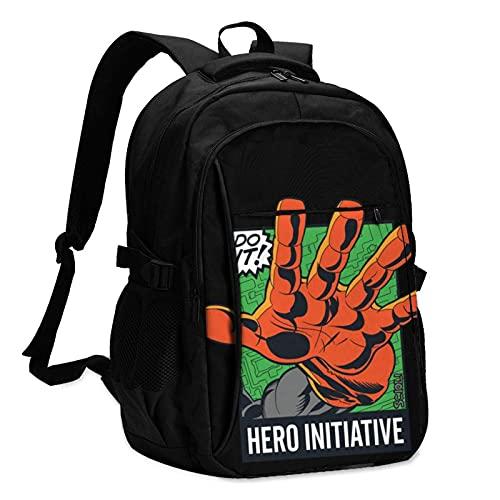 Hdadwy Leihen Sie eine Heldenhand! Reiserucksäcke für Männer und Frauen mit USB-Ladeanschlüssen können 13-16-Zoll-Notebooks aufnehmen