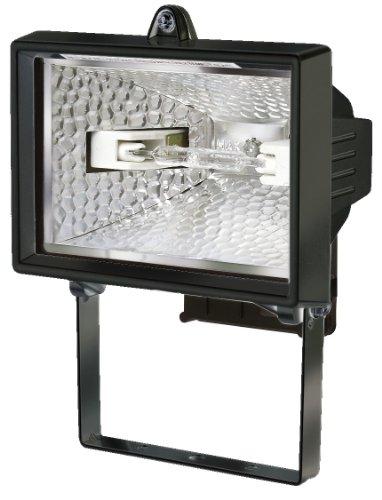 Brennenstuhl Halogenstrahler / Flutlicht Halogen ideal als Baustrahler zur Montage auf Stativ (Außenstrahler IP54 geprüft, 120 Watt) schwarz