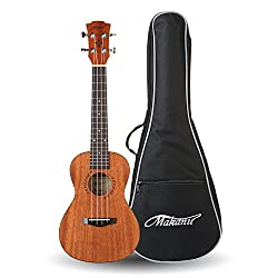 """30 best ukulele reviews 2019 best ukulele brands """"best ukeleles the makanu ukulele is a 24 inch instrument that is made of strong and high quality mahogany wood construction the mahogany construction covers both the"""