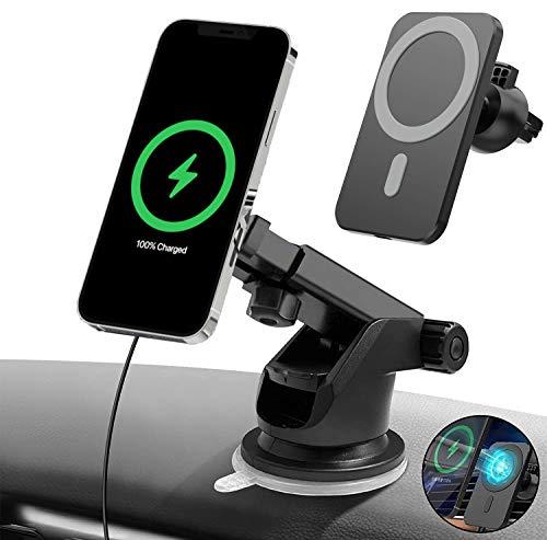 QUMOX Soporte Coche Cargador rapido Inalambrico QI para iPhone 12