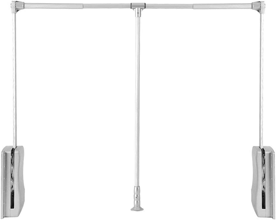 Nisorpa NEW before selling Pull Down Wardrobe Rail Closet Lift Collapsible Topics on TV Alum Rod
