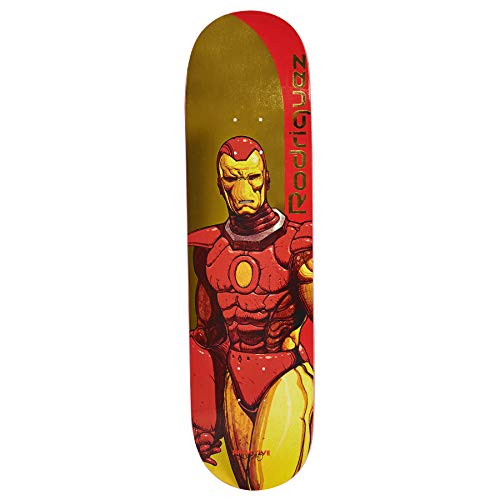 Primitive Rodriguez Iron Man Deck Skateboard Deck 8.125 inch Gold