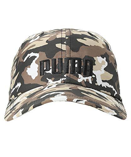 PUMA Style Logo Cap Unisex Erwachsene, Black/Pebble/AOP, One Size