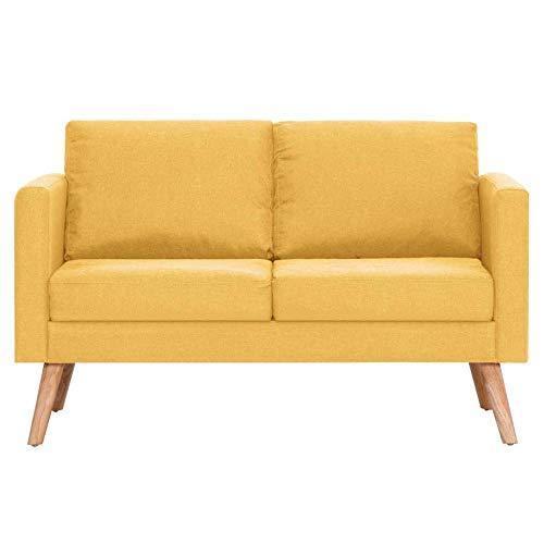 OZLXKNC Modernes Schnittsofa aus zentralem Stoff 2-TLG. Für das Wohnzimmer Holzrahmen-Sofa Set Sofas für das Wohnzimmer-Sofa Minimalism Style