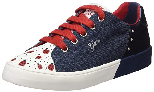 Geox Mädchen JR CIAK Girl D Sneaker, Blau (Jeans/Navy), 30 EU