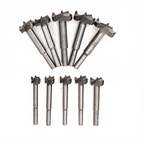 10pcs Brocas Forstner Set 12-35mm Broca fresadora Madera Hole Saw Acero al tungsteno Titanium recubierto