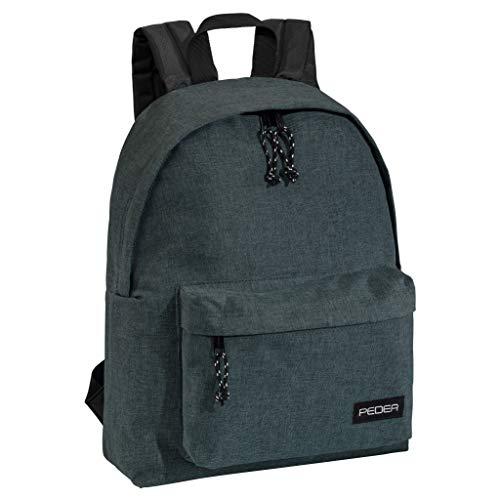 PEDEA Rucksack Daypack Wasserabweisend Damen Herren Mädchen Jungen Kinder Schule Uni Reisen Job mit Fach für 13,3 Zoll (33,8cm) Laptop, 24L Grau