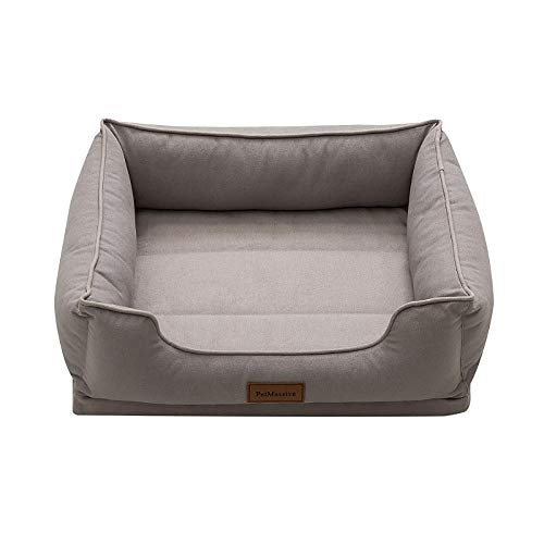 Eortzxk Sleep Well Lounger' Dog Bed, Machine washable, Orthopedic Dog Bed Sofa Detachable Covers Waterproof Liner Premium Zippers, Suitable for Small Medium Dogs or Cats
