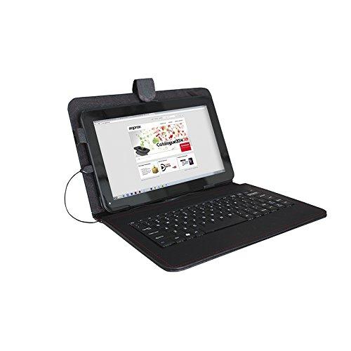 Approx APPIPCK03 - Funda con Teclado para Tablets de 9', Color Negro