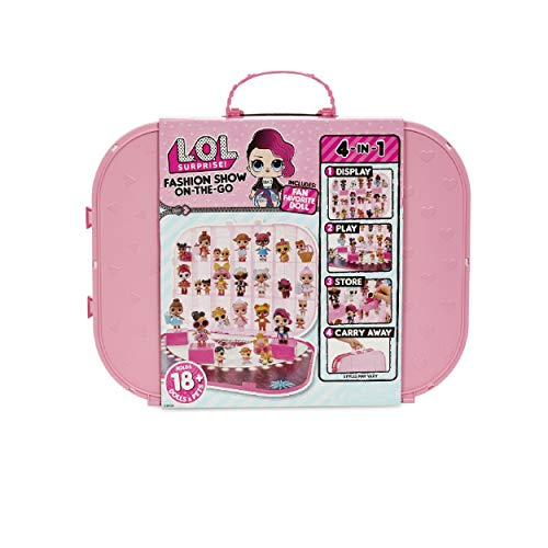 L.O.L. Surprise! Fashion Show On-The-Go Storage/Playset with Doll Included – Light Pink