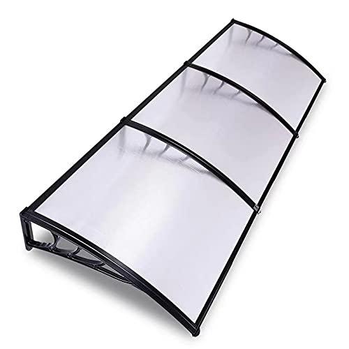 ZXCVBNAS Pensilina Protezione Ultravioletta (UV),Tenda da Veranda Capottina,Tettoia Altà Resistenza al,Fatto di Trasparente Policarbonato,per Porta O Finestra,Veranda Alveolare,80x280cm/32x110in