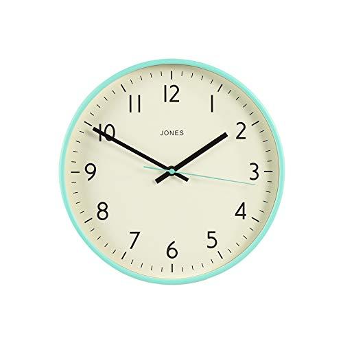 JONES CLOCKS ® Studio Wanduhr, Moderne Uhr, Bunt, Gut lesbar 30cm